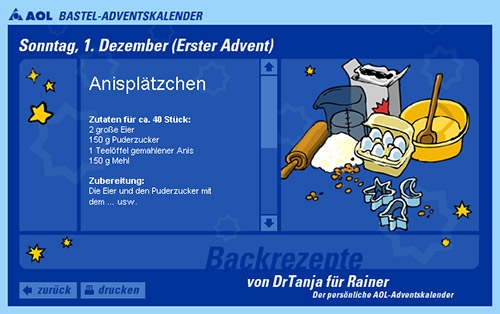 Screenshot: Backrezept